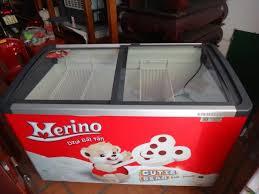 BÁN RẺ tủ kem kính cong merino 420 lít, bền, đẹp, lạnh sâu.