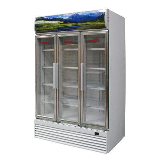 tủ mát 3 cánh mở sanaky, tủ mát siêu thị, tủ mát 1.500 lít mới , bảo hành 12 tháng