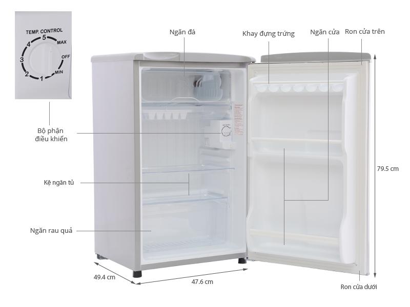 tủ lạnh 90 Lít sanyo mới 100%, bảo hành 12 tháng.