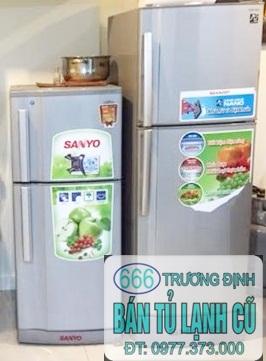 tủ lạnh cũ toshiba 120 lít giá 1.800k tại 666 Trương Định