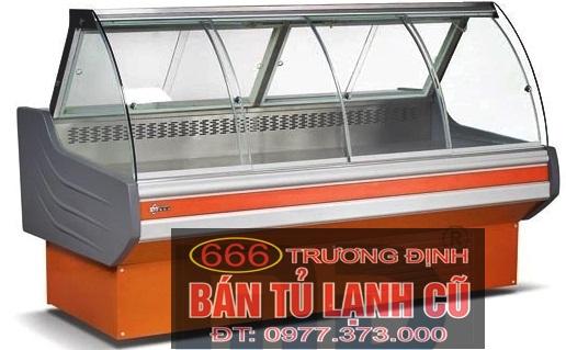 tủ trưng bày thịt cá tươi 4 kính lùa. Giá thanh lý, giao hàng miễn phí