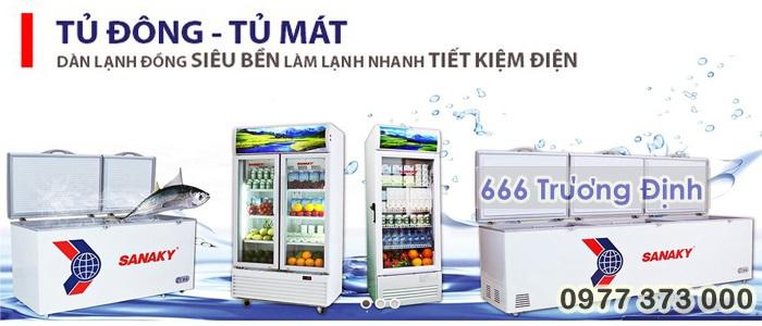 tủ trữ đông, tủ cấp đông SANAKY 1,300 lít mới, bảo hành 12 tháng.