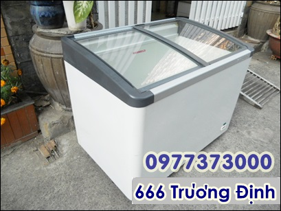 bán thanh lý tủ đông nắp kính nhập khẩu, tủ đông trưng bày giá rẻ