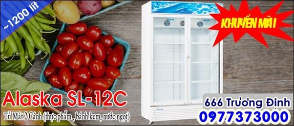 tủ làm mát alaska 1.200 lít , 2 cửa mở , bảo hành 12 tháng.