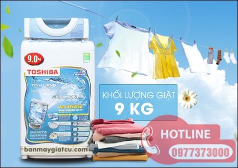 Máy giặt toshiba 9kg inverter giá rẻ.