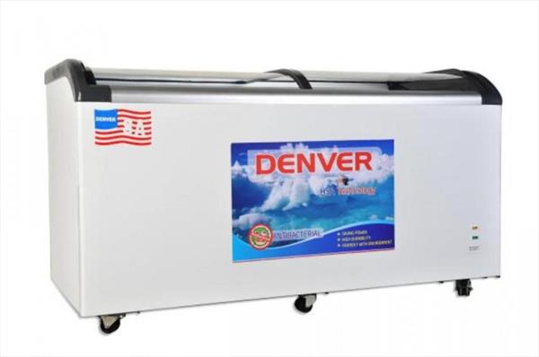 tủ đông kính cong Denver 880 lít, bảo hành 12 tháng.