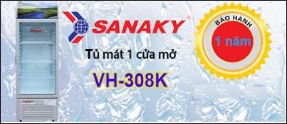 Tủ mát Sanaky 308 lít mới