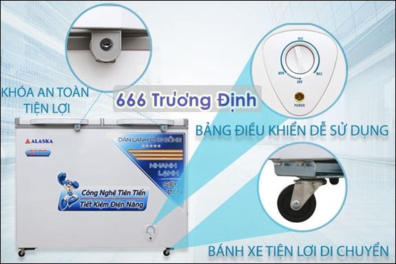TỦ ĐÔNG MÁT THƯƠNG MẠI BCD-3568C dung tích 350 lít