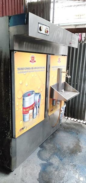 Tủ bảo quản bia loại khô-nước 6 bom, có khay