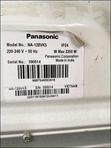 Máy giặt lồng ngang 8kg Panasonic