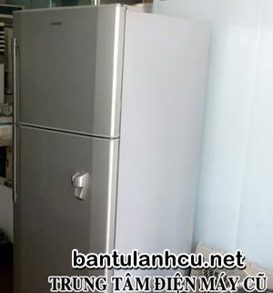 tủ lạnh hitachi, lấy nước bên ngoài, 400 lít cũ, đẹp lắm
