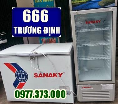 đại lý tủ cấp đông, tủ làm mát cũ sanaky, alaska, sanyo, towash...