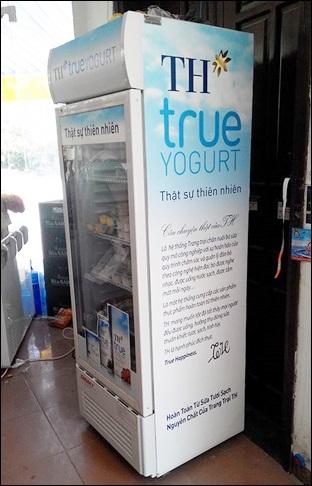 tủ mát alaska dung tích 350-400 lít logo TH true milk, giá rẻ
