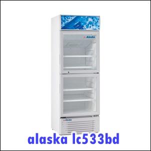 Tủ mát ALASKA LC-533DB (350Lit-2 cánh), giá bán 6.4 triệu