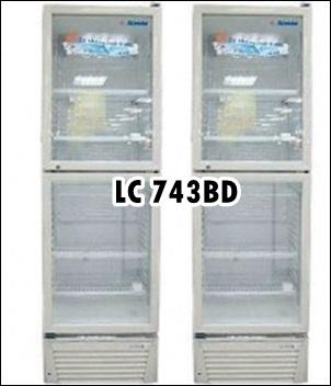 Tủ Mát 2 Cánh Trên Dưới Alaska LC-743DB 450 lít giá 6,5 triệu