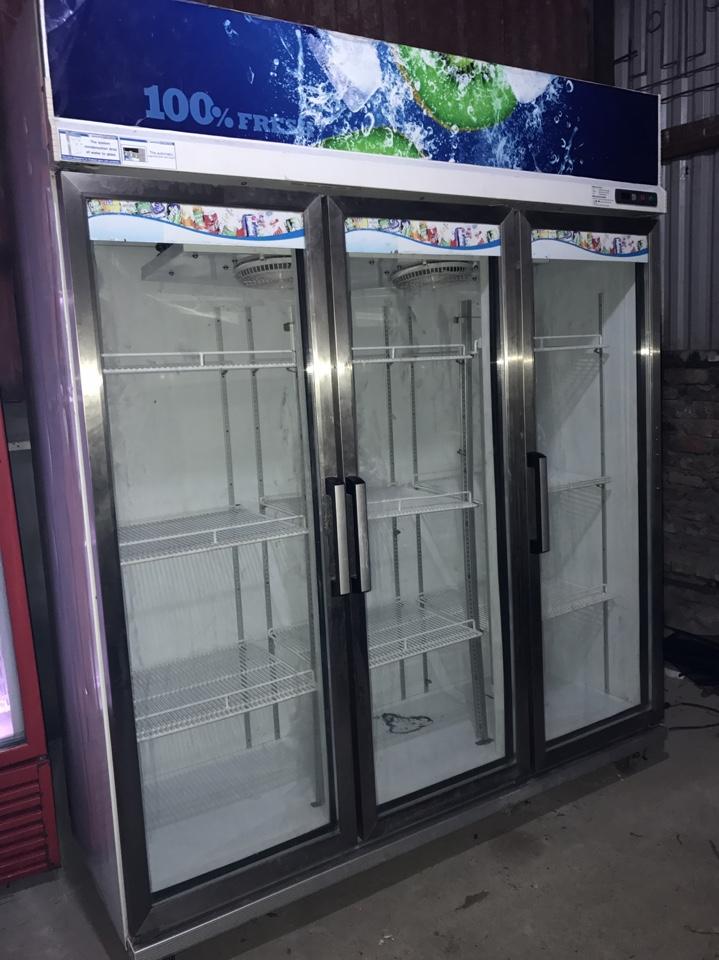 Tủ làm mát 3 cánh nhập khẩu Thái Lan Sanden intercool, giá rẻ tại 666 Trương Định HN