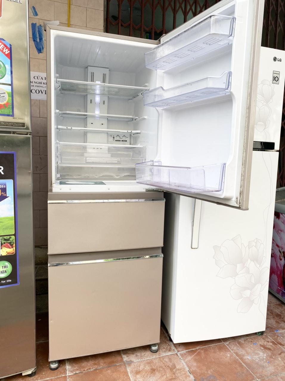 tủ lạnh Mitsubishi 3 cửa INVERTER đá rơi, sx tại Thái Lan